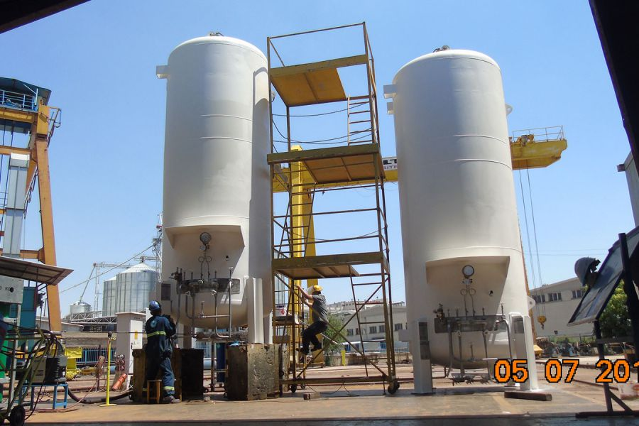 10m3 LOX Cryogenic Tank, Turkey