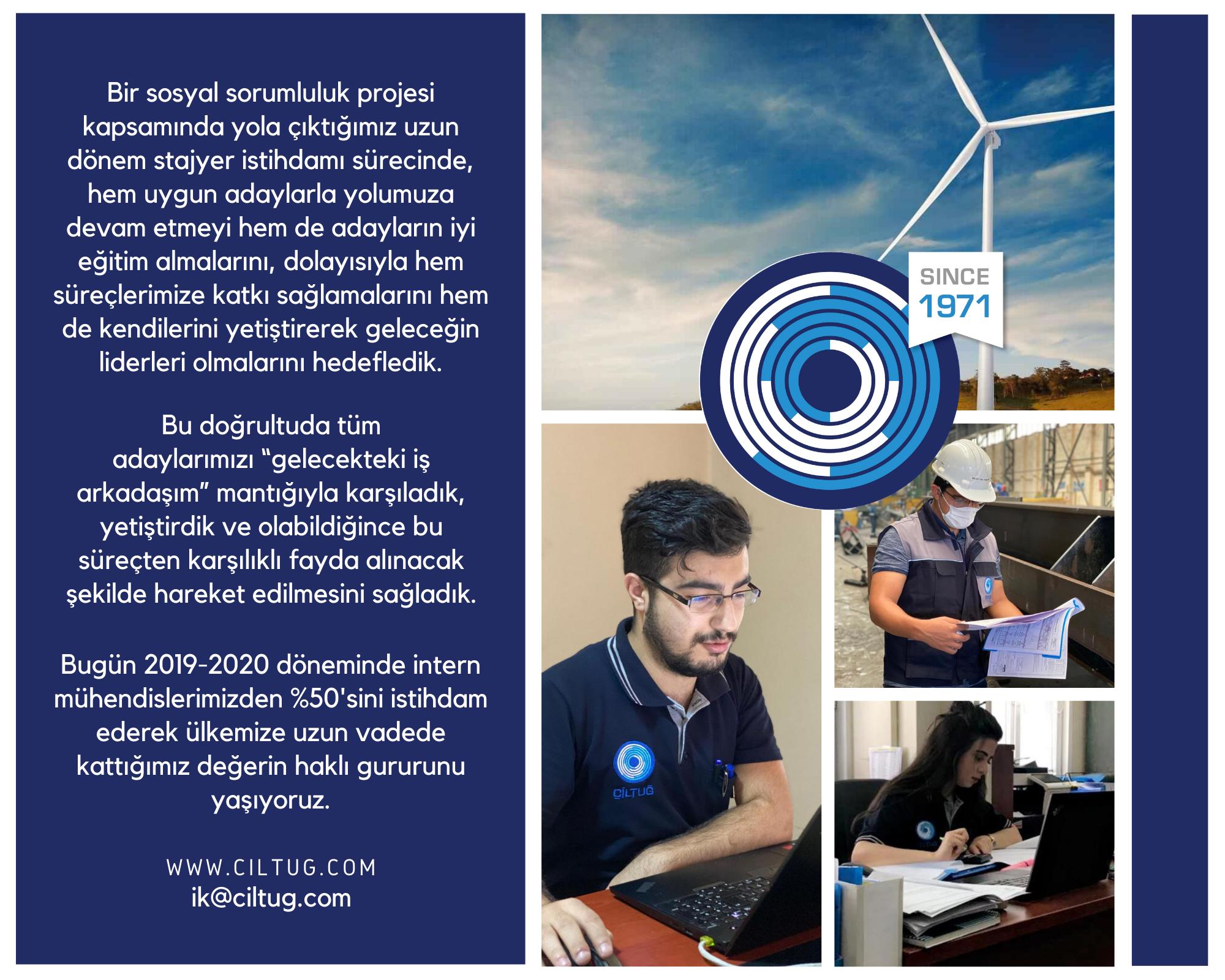 2019-2020 Döneminde İntern Mühendis İstihdamı